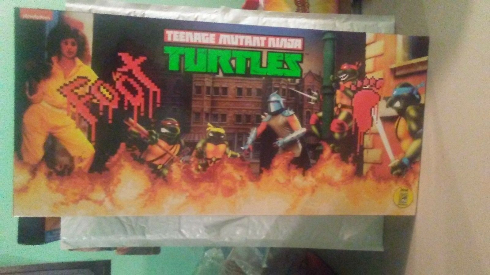 NECA TEENAGE MUTANT NINJA TURTLES ARCADE GAME FOOT CLAN ACTION FIGURE SDCC