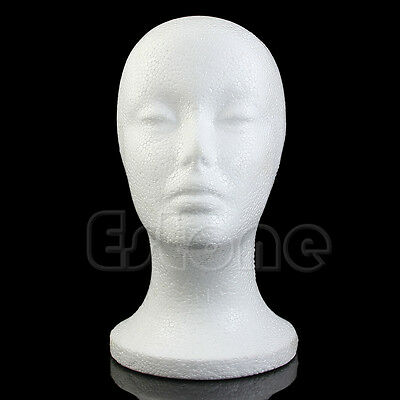 Female Styrofoam Mannequin Manikin Head Model Foam Wig Hair Hat Glasses Display