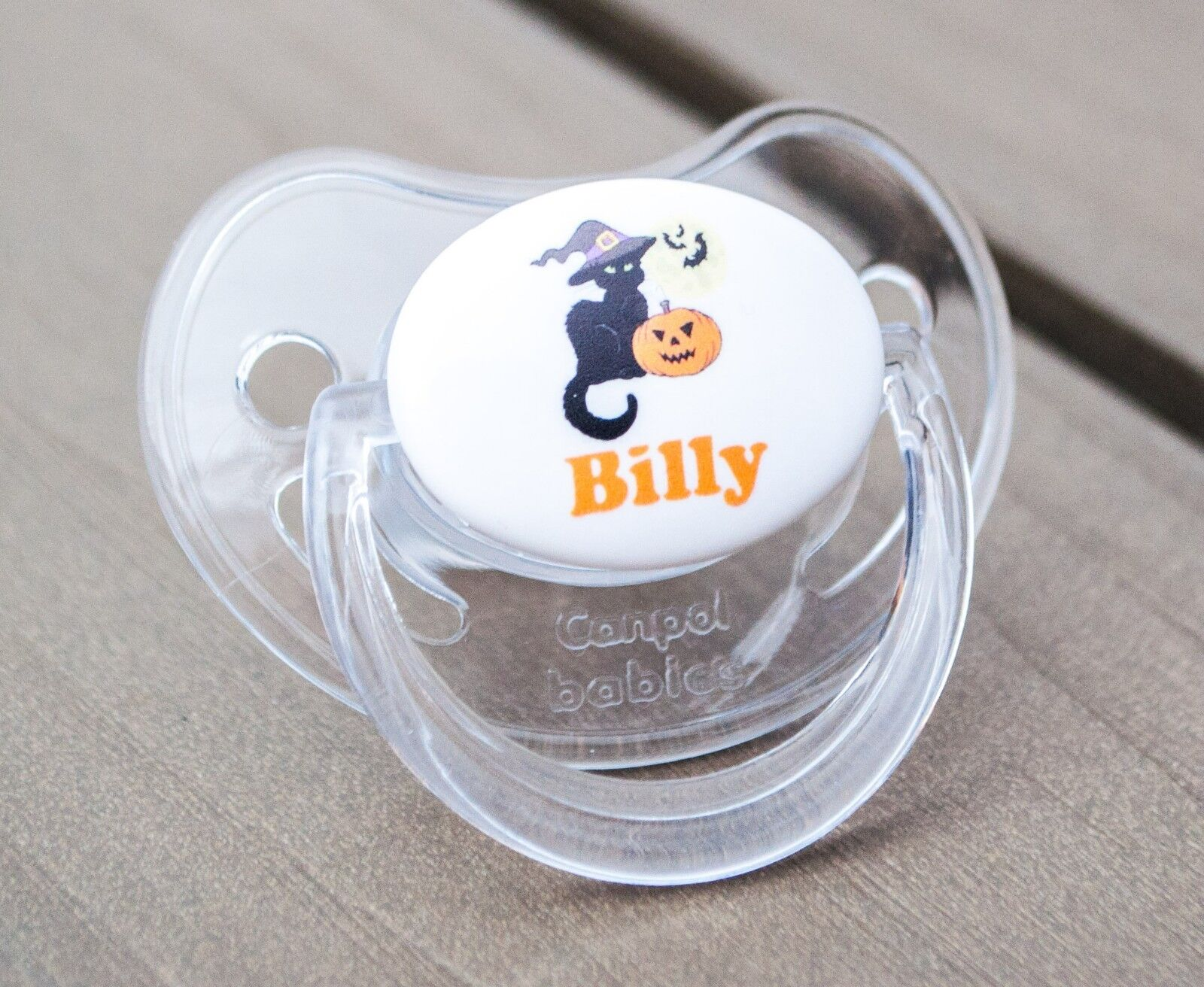 PERSONALISED DUMMY PACIFIER SOOTHER DINOSAUR ALL TEATS,SIZES /& COLOURS