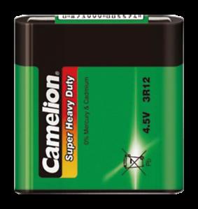 Flachbatterie CAMELION Super Heavy Duty 4,5 V Typ 3R12