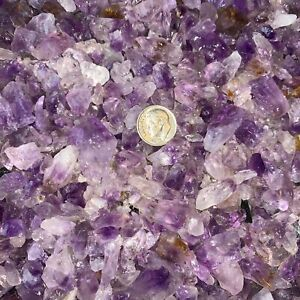 1000-Carat-Lots-of-SMALL-Amethyst-Points-Plus-a-FREE-Faceted-Gemstone