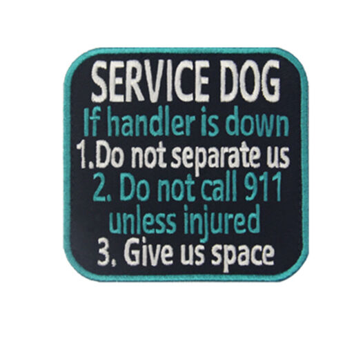 Embroidered patches Hook Loop transfers Patch Badges Service Dog 547M Alerts