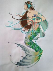 Large-New-Completed-finished-cross-stitch-034-Mermaid-034-home-decor-gift-C63