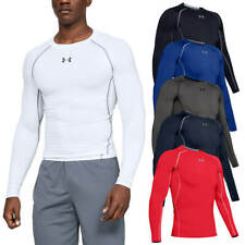 Under Armour Mens HeatGear Armour LS Compression T Shirt Layer 27% OFF RRP