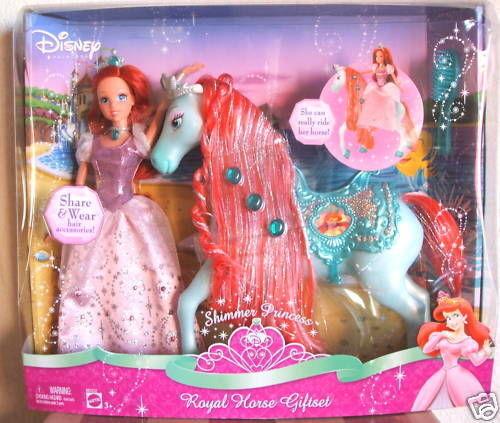 POUPEE CHEVAL DISNEY Princess Shimmer ARIEL ROYAL HORSE GIFSET M5232