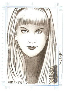 Xena-Art-and-Images-Steven-Miller-Sketch-Card-Gabrielle-hand-drawn