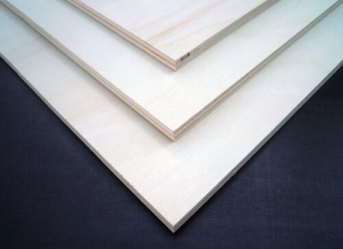 6 Stk. Pappel Sperrholz 800x500x8mm Furnierplatte Möbelbau Holz beste Qualität