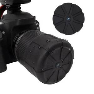 Universal-Black-Silicone-Camera-Lens-Protective-Cover-Caps-For-Canon-Nikon-Sony