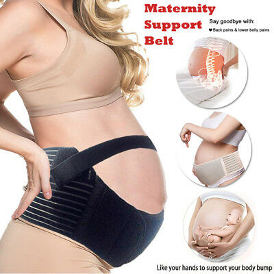 Deluxe Maternity Band Abdomen Pregnancy Tummy Belly Brace Wrap Back Support Belt