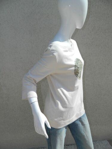 Escada Sweater S Sz Shirt Green Felpa Ivory qH4grqfT