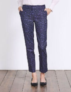 Boden-Hose-Richmond-7-8-Pants-Leo-Print-Taschen-Stretch-NEU-UK-10-EU-38