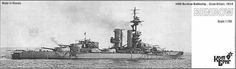 Combrig 1 700 Battleship HMS Benbow, 1914, resin kit PE