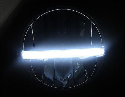 """NEW 7""""  LED CHROME HEADLAMP HEADLIGHT Fits Harley Davidson RUNNING LIGHT DOT"""