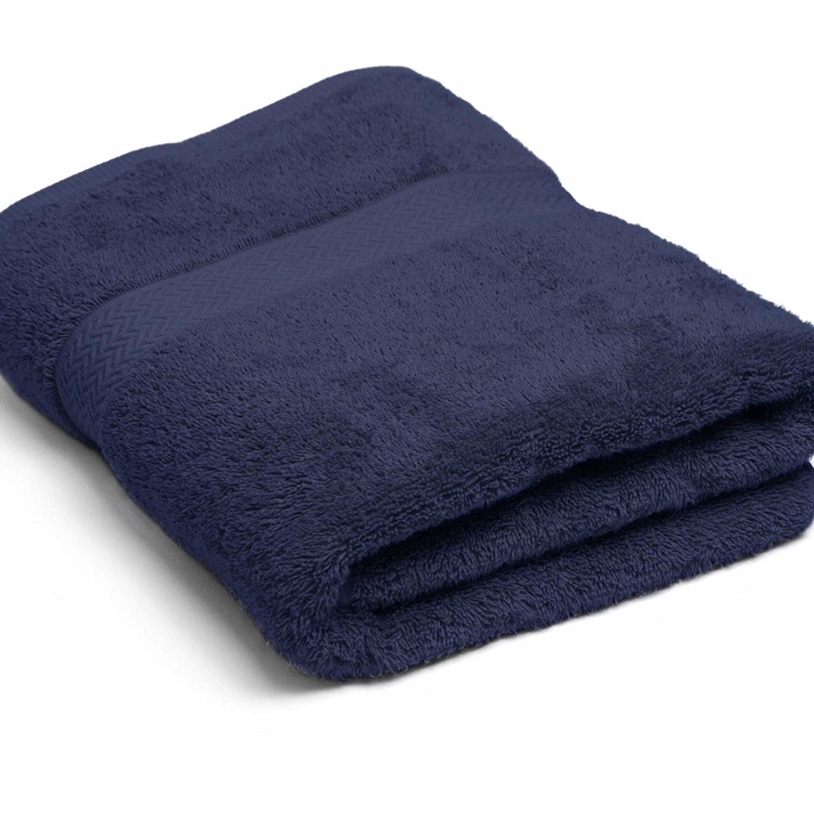 COMMERCIAL PREMIUM 6 PIECE BATH TOWEL SET  Navy Home Business Gym Pool Absorbent