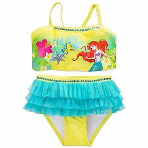 73b1f7678e Details about Disney Store Princess The Little Mermaid Ariel 2 PC Swimsuit  Girl Size 5 6