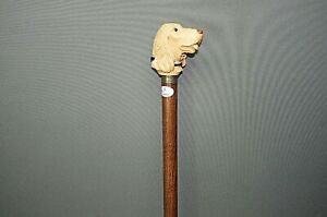 Edler-Holz-Sammler-Gehstock-Wanderstock-Spazierstock-Walking-Stick-96-cm-Hund