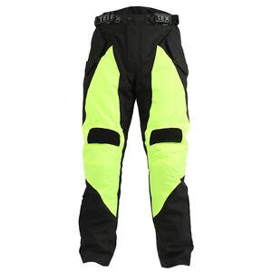 Motorbike-Motorcycle-Trousers-Hi-Vis-Yellow-CE-Armoured-Rain-Waterproof-Biker