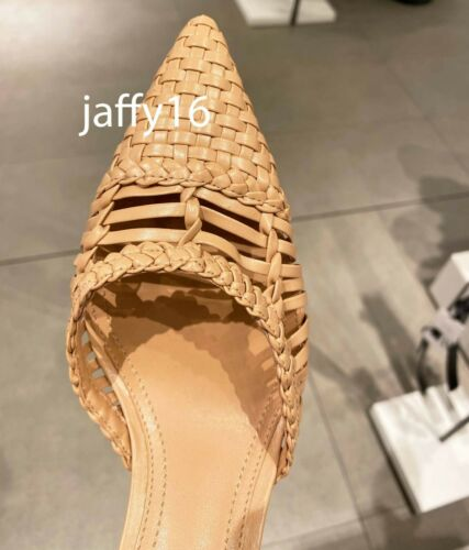 ZARA NEW WOMAN BRAIDED HIGH-HEEL SHOES STRAPY PINK 35-42 1205//510