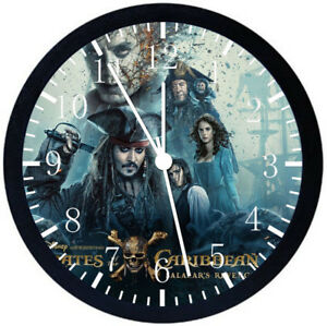 Pirates of the Caribbean Black Frame Wall Clock Nice For Decor or Gifts F113