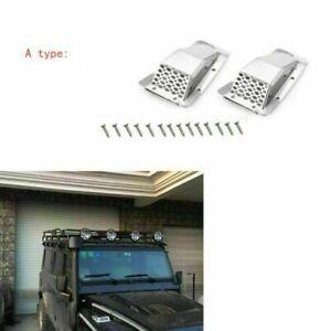 1-Pair-Metal-Cubierta-de-rejilla-de-entrada-de-ventilacion-de-aire-campana-para-Traxxas-TRX4-RC