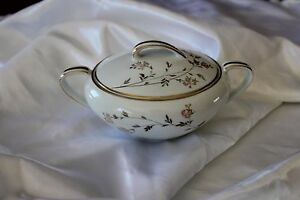 Vintage-Noritake-China-Sugar-Bowl-w-Lid-Florence-5528-Double-Handles