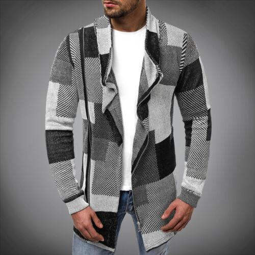 MAGLIA Giacca Pullover Pullover A Maglia sweater manica lunga Top OZONEE nor//3503 Uomo