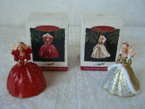 Hallmark Barbie Keepsake Ornaments ONE PAIR 1993 /& 1994 NEW IN BOXES