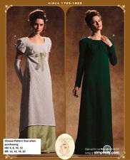 OOP SIMPLICITY 4055 REGENCY CIRCA 1795-1825 DRESS COSTUME PATTERN SIZE 14-20