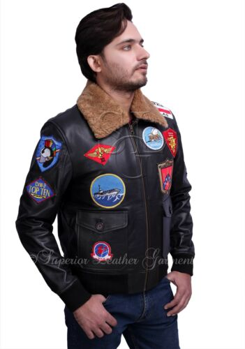 Bomber pelle Force uomo da Pilot Fighter pilota Navy Air Jet Giacca da in ZpwY4qZ
