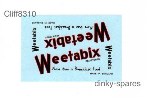 Dinky-SparesDinky 514 Guy VanWeetabixWaterslide Transfer