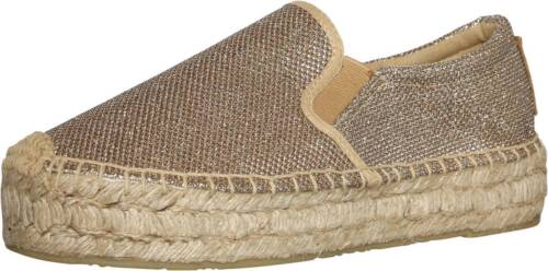Replay Femme Nesia Gold Enfiler Toile Espadrilles Chaussures