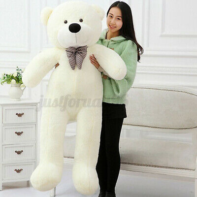 55/'/' Big White Teddy Bear Case Bow Cuddly Soft Plush Animal Toy Dolls Kid Gifts