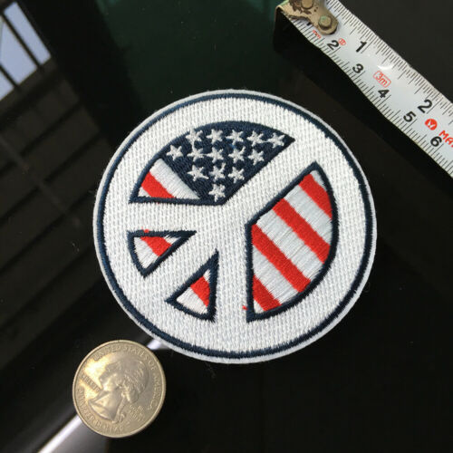 USA Flag Peace Patch Stars and Stripes Badge Iron on Applique Sewing DIY Fabric