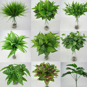 Bon Image Is Loading Artificial Plants Fake Leaf Foliage Bush Home Office
