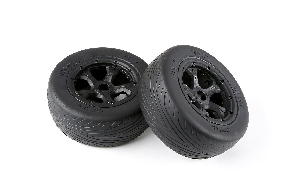 Tyre Wheel Set of 2 Highway Tire 1/5 Losi 5ive T Baja 4WD