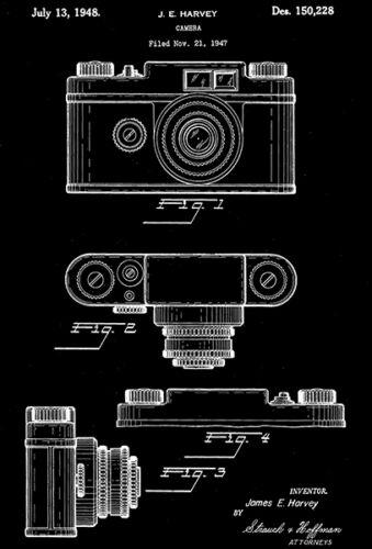 Patent Art Poster J 1948 Harvey Camera E
