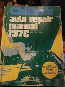 Vintage-1976-Chiltons-Auto-Repair-Manual-American-Cars-from-1969-76-RESTORATION