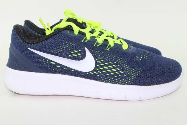NIKE FREE courir YOUTH Taille 5.0 SAME AS WOMAN 6.5 NEW Bleu COMFORTABLE