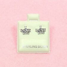 Sterling Silver - I LOVE YOU Stud Earrings (SE200)