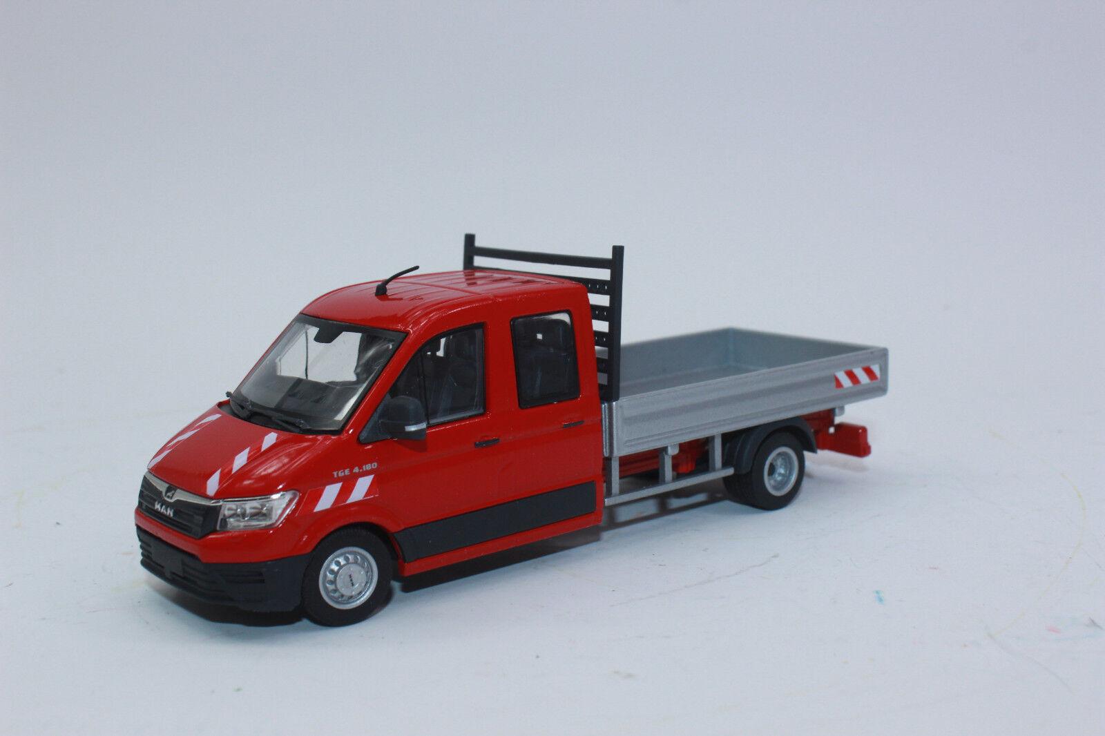 Conrad 1616 01 Man Tge 4.180 Doka Camion à Benne Rouge 1 50 Nouveau
