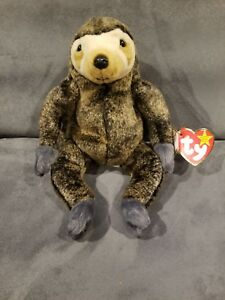 9d01f3f1bb7 Ty Beanie Baby Slowpoke the Sloth (1999) with Flat Tush Tag ...