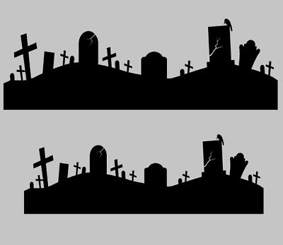 Graveyard Border Clipart
