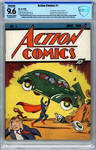 Action Comics #1 CBCS 9.6 (R) Origin & 1st Superman by Siegel & Shuster 1st Lois