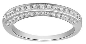 Wedding-Engagement-Ring-Band-I1-G-0-65-Ct-Real-Diamond-14K-White-Gold-Pave-Set