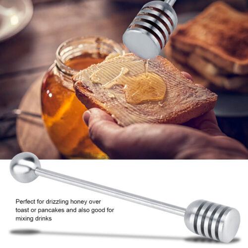 304 Stainless Steel Honey Stirrer Stick Jam Syrup Stirring Dip Rod Long Handle