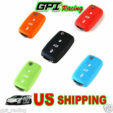 VW Key Silicone Case Cover Golf Polo Boro EOS Beetle Touran MK4 Mk5 MK6 MK7 JETT