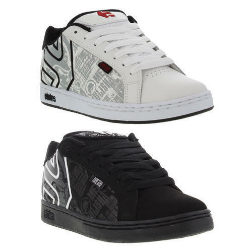Etnies Metal Mulisha Fader Uomo Nero Scarpe skate in pelle bianca misura  Scarpe classiche da uomo
