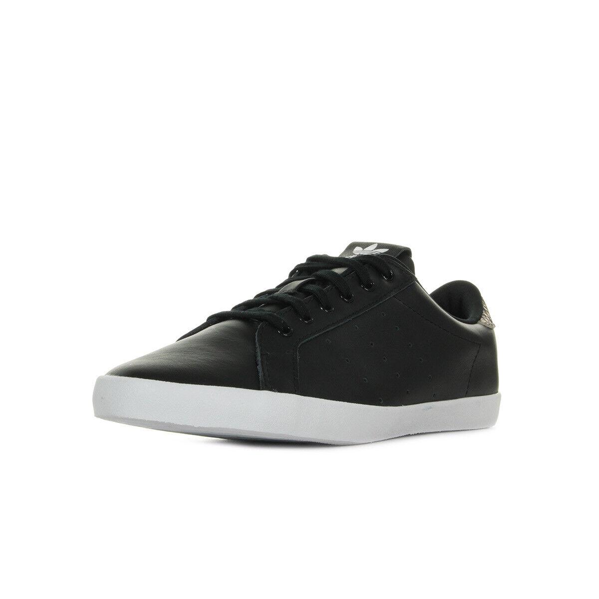Chaussures Baskets adidas Noire femme Miss Stan W taille Noir Noire adidas Cuir Lacets 89b675