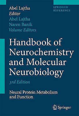 Handbook of Neurochemistry and Molecular Neurobiology: Neural Protein Metabolism