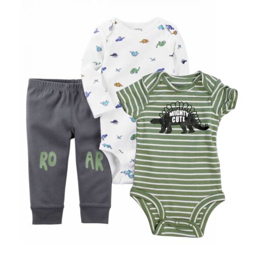 Carter/'s 3 Piece Bodysuits and Pants Set for Baby Boys
